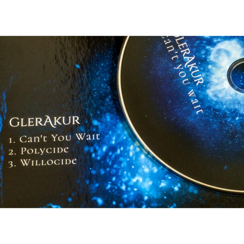 "GlerAkur - Can't You Wait Vinyl 12"" EP  |  black"